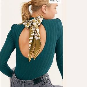 Free people Party in the back rubbed cutout scarf